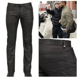 RARE Dior Waxed Jeans Homme Hedi Slimane Black